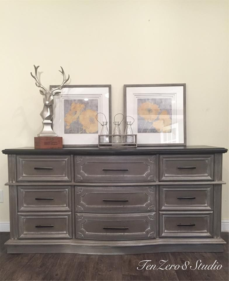 Bedroom Set In Cardamom Brown Staining Furniture Chalk Paint Bedroom Furniture Gray Painted Furniture