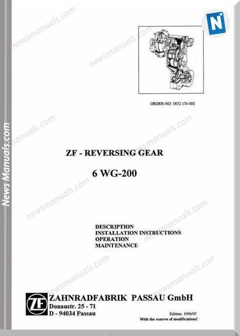 Zf Reversing Gear 6wg