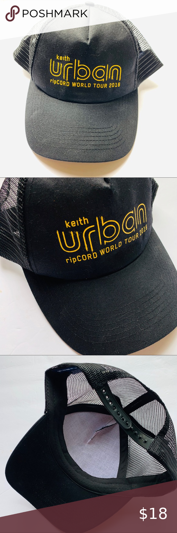 NEW Keith Urban Adjustable Trucker Hat in 2020 Keith