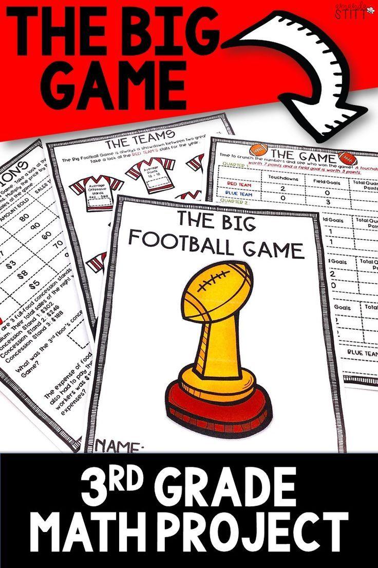 Super Bowl Math Activity Football Math Project 3rd