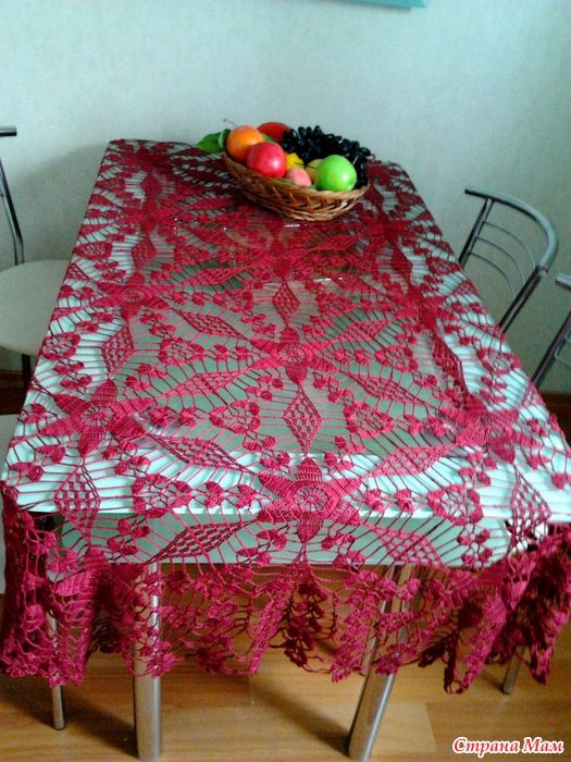 Crochet Tablecloth + Diagrams