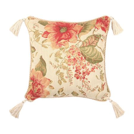 Bring a touch of romance to your bedroom or living room with the beautiful Brianza Pillow. This lovely throw showcases a warm spring palette, elegant floral ...