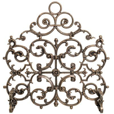 Fleur De Lis Living Fresnel Single Panel Iron Fireplace Screen Wayfair Cast Iron Fireplace Fireplace Screens Classic Fireplace