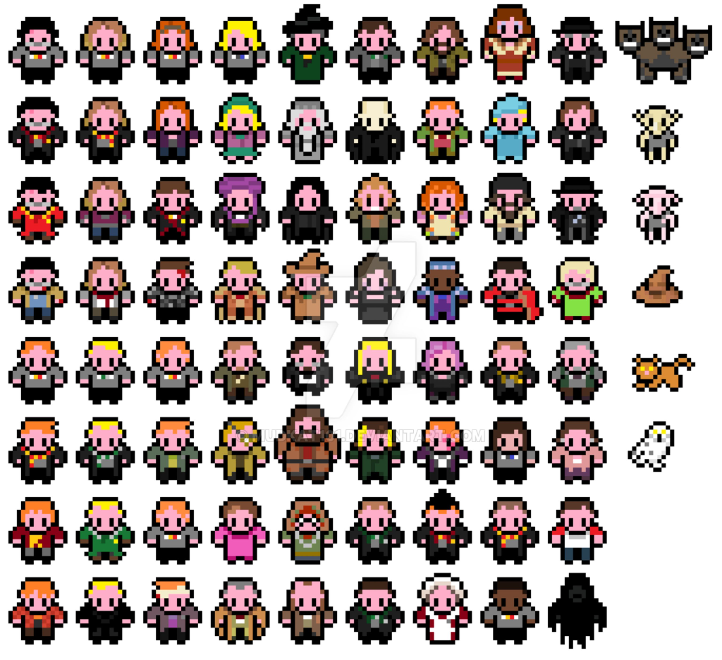 Фото персонажей из пиксельных игр