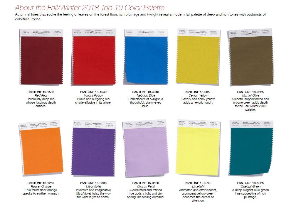 pantone fall winter 2018 top 10 color palette trends fashion trend 7720 266c