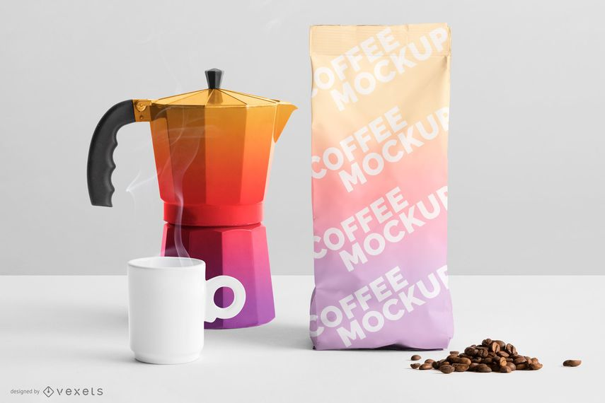 Download Gradient Coffee Packaging Mockup Ad Paid Affiliate Coffee Packaging Mockup Gradient Business Cards Mockup Psd Packaging Mockup Stationery Mockup