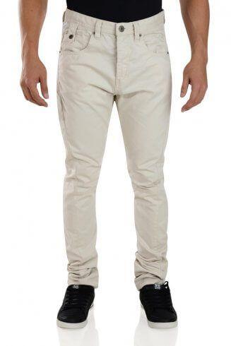 7f6f3bce1d0 Crosshatch Riccachino Cotton Jean Chino Trousers Oatmeal Beige ...