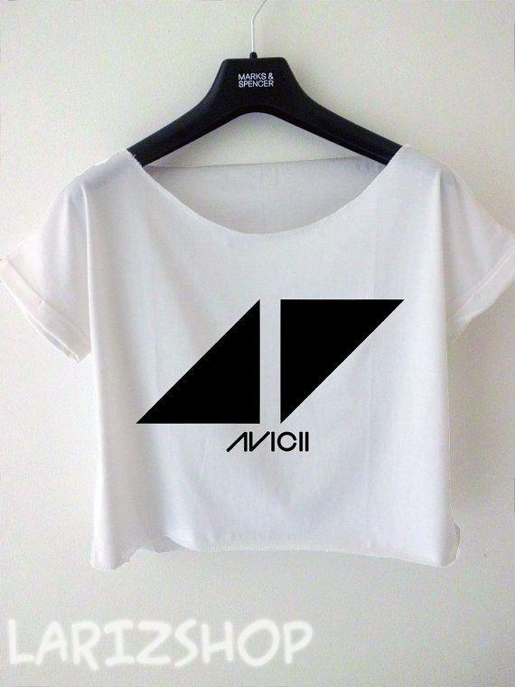 01680405baa55e avicii DJ triangle logo printed cropped tee women by larizshop ...