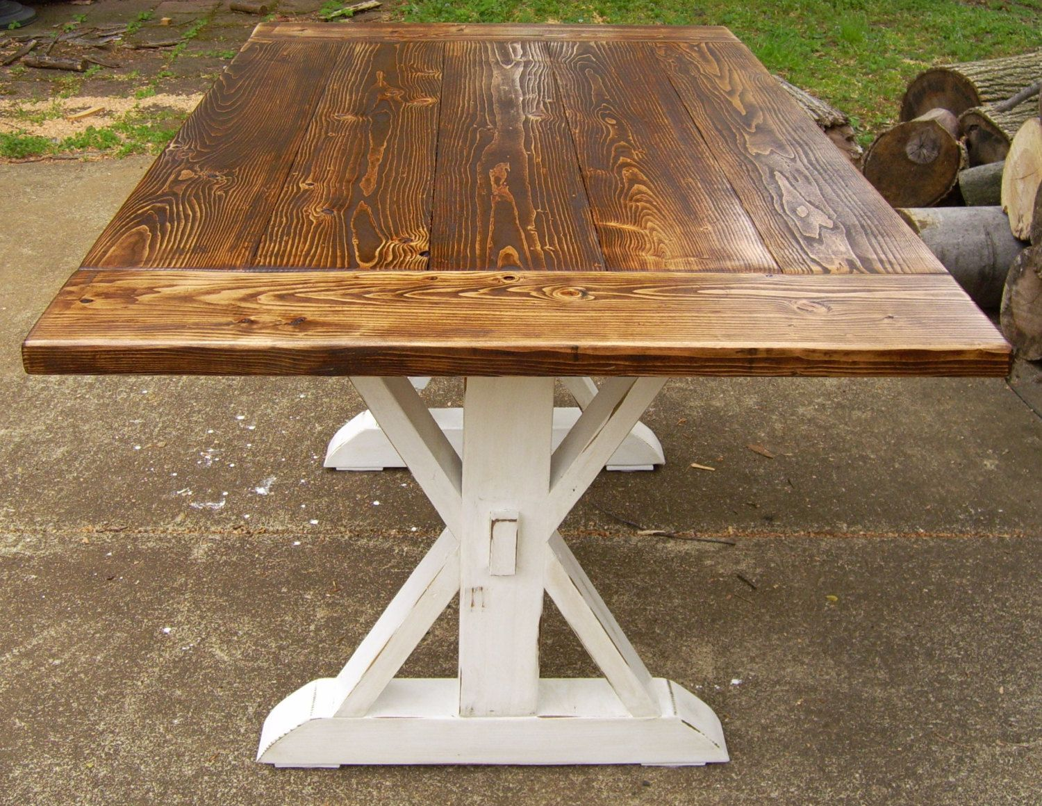 Dining Table Farmhouse Reclaimed Wood by WonderlandWoodworks inside  Farmhouse Kitchen Table. Would love this as a dining kitchen table instead of so formal