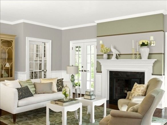 Wall La Paloma Gray 1551 Trim Wainscoting Ceiling Fireplace Calm 2111 70 All Benjamin Moore Paint