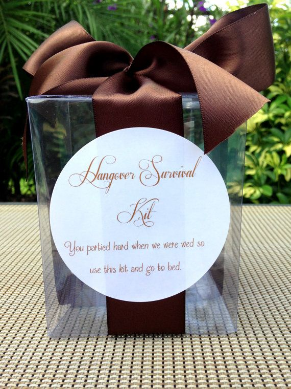 Hangover Survival Kit Cute To Include In Wedding Welcome Bag For Out Of Town Guests