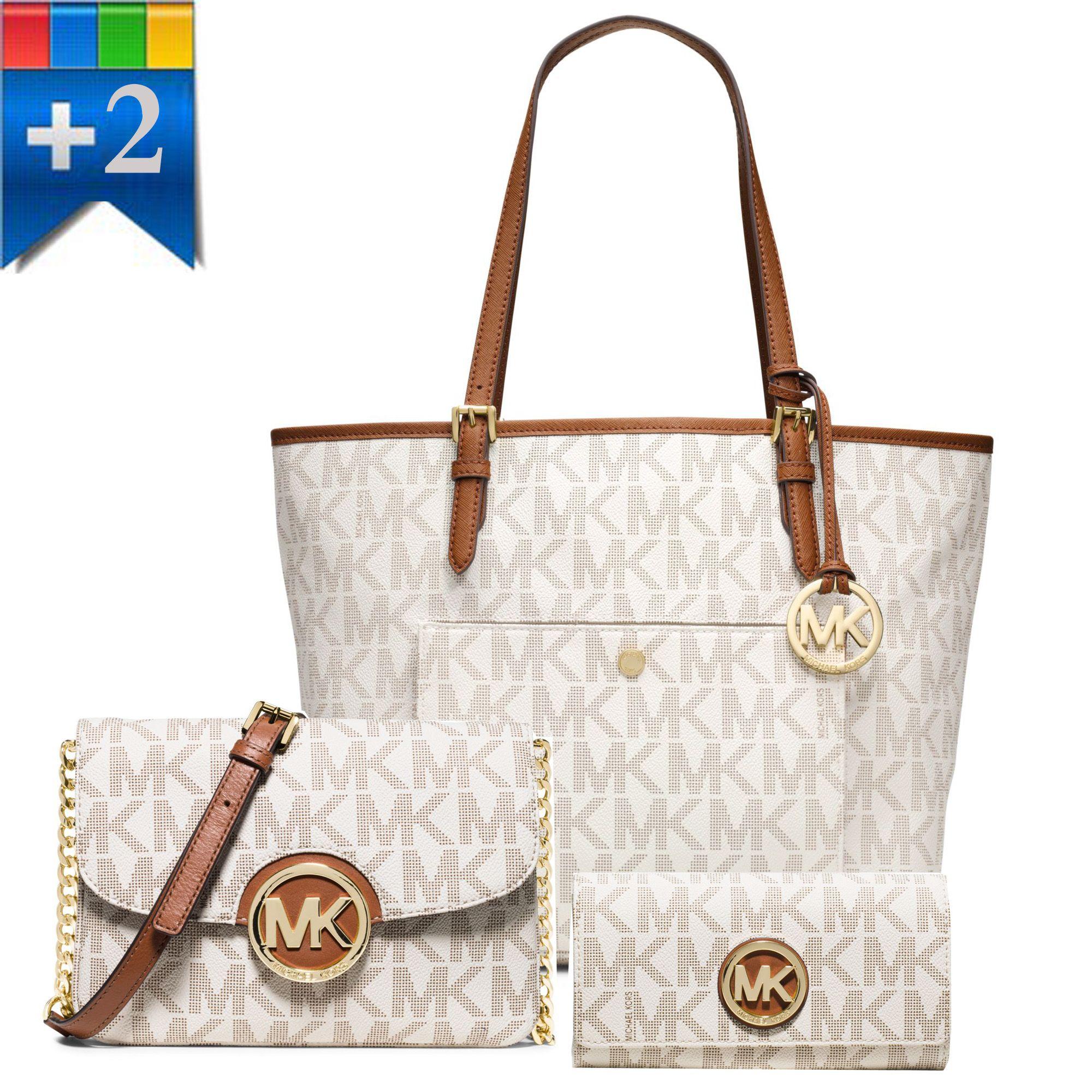 Michael Kors Fulton Large Logo Shoulder Bag Crossbody Carryall Wallet
