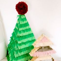 Learn How To Make These Cute Christmas Tree Piñatas With This Easy  - Christmas Tree Pinata