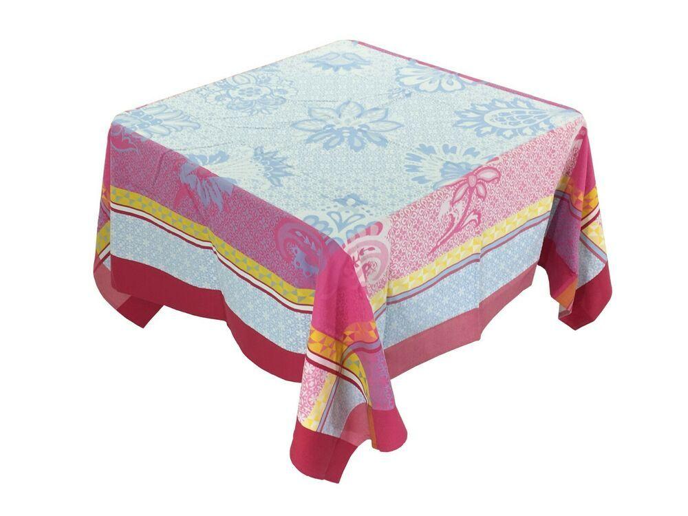 Marat Jacquard Coated Tablecloth Ribeauville Geometric Flowers