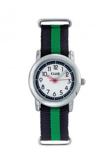 4d795aa7a8b CLUB DRENG CROM MED NATO REM GRøN/SORT | Club Time ure