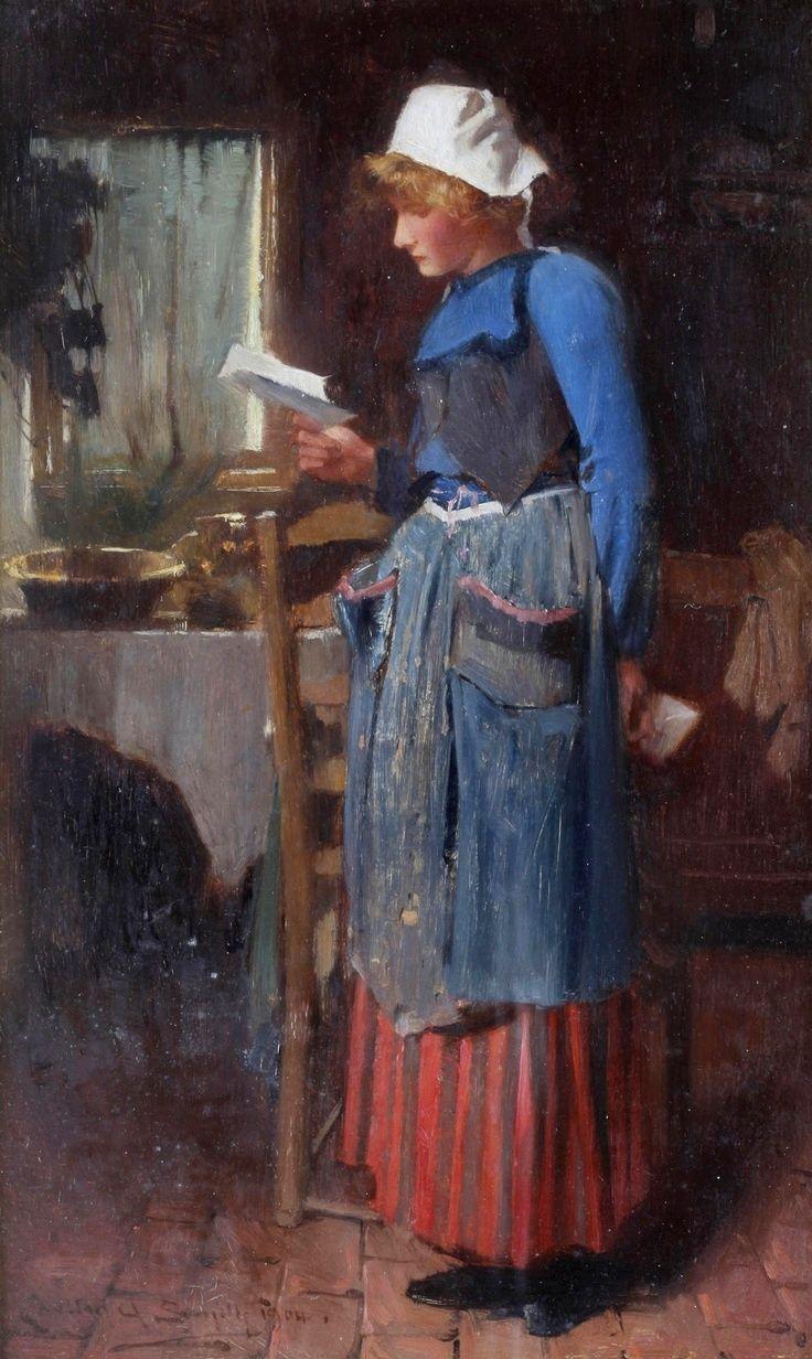 Reading And Art Portraits Of Women Reading Peintre Anglais