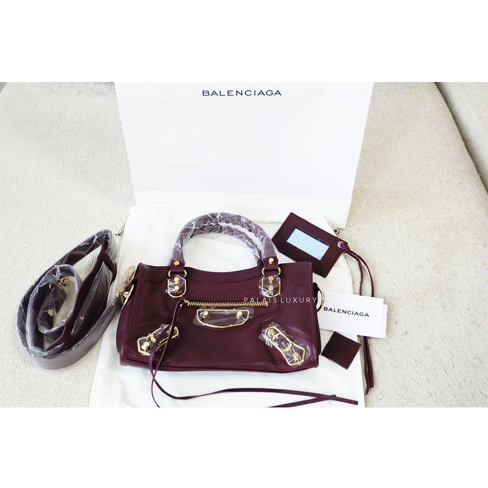 d047fc0a27 Balenciaga Metallic Edge Mini City Bordeaux 23 cm, Contact Whatsapp  +62-822-9911-6007 for purchase