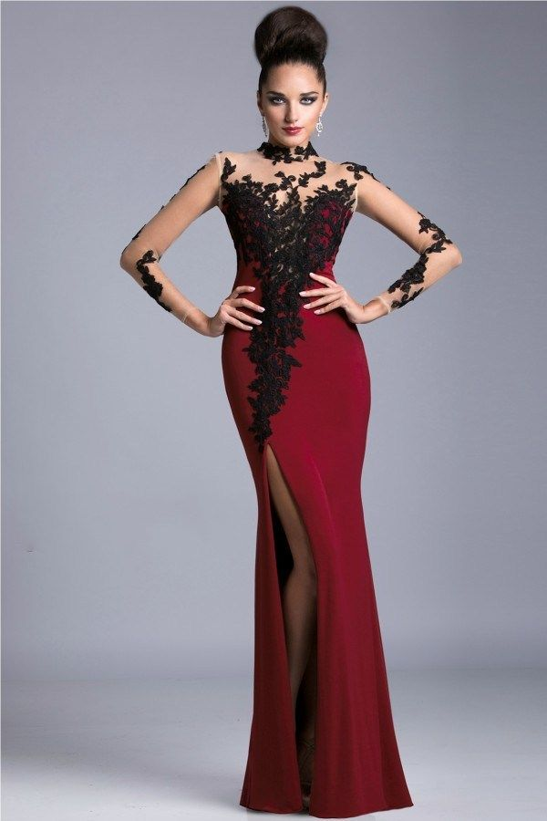 click to buy << black lace prom dresses corset spandex mother's