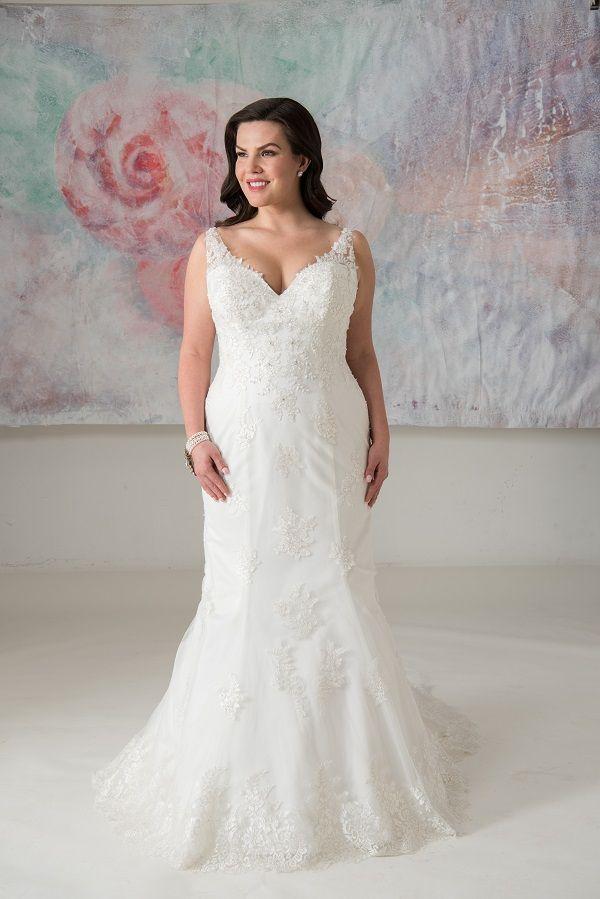 Geneva Callista Plus Size Wedding Dresses Mermaid Trumpe Plus