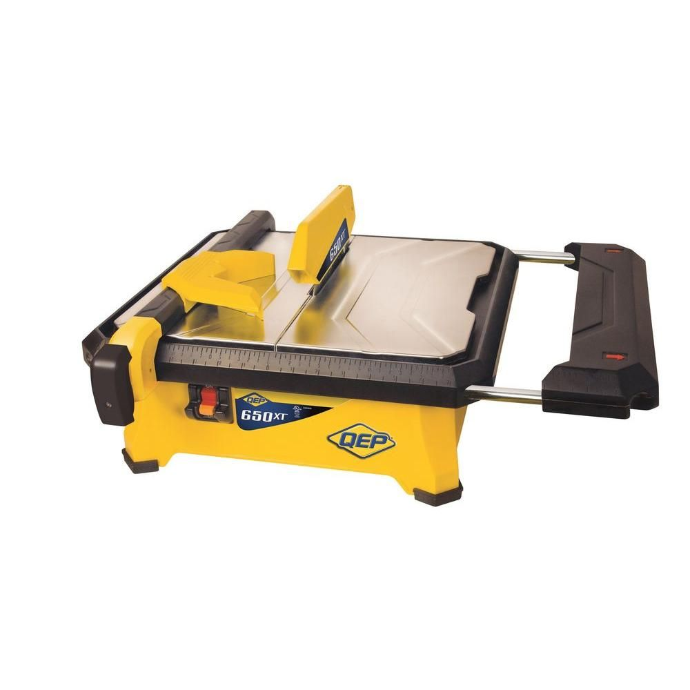 Qep 3 4 Hp Wet Tile Saw With 7 In Diamond Blade 22650q The Home Depot Tile Saw Tile Saws Tile Cutter