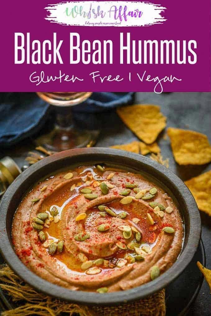 Black Bean Hummus is a delicious take on classic Hummus where Black beans are used instead of chickpeas. This vegan, gluten free dip is a party favorite and can be served with tortilla chips , veggie sticks or pita bread. Here is how to make Black bean Hummus Recipe. #BlackBeanHummus #BlackBean #Hummus #MiddleEastern #Dip #Recipe #Vegan #GlutenFree #vegancrockpotrecipes