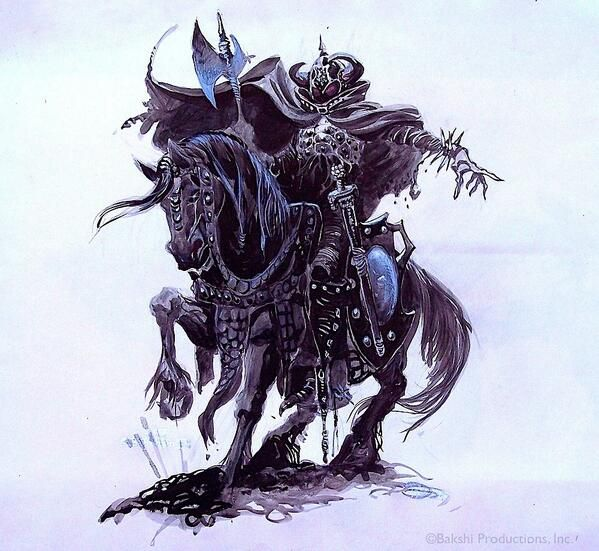 Lord Of The Rings Nazgul Concept Art By Mike Ploog: Art, Ralph Bakshi, Fantasy Art