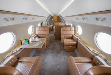 Oprah Winfrey jet interior
