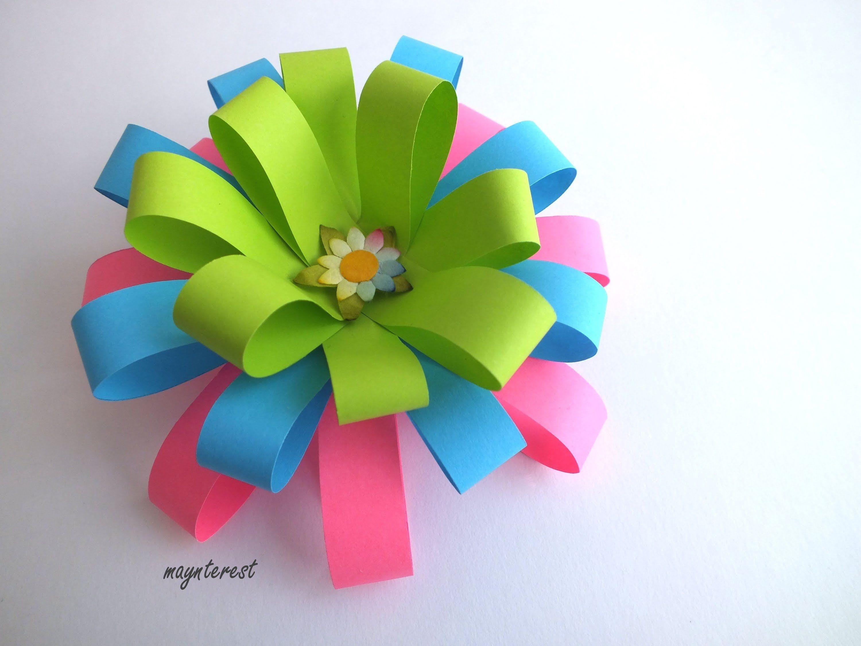 Xmas Crafts Diy Flor Decorativa De Papel Decorative Paper Flower
