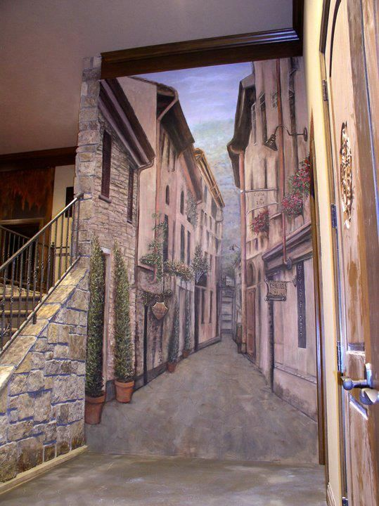 Beautiful work by Roberta Sanger Stelmaszek trompe l oeil