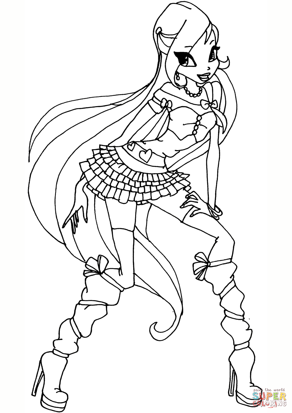 Winx Coloring Pages With Club Bloom Page