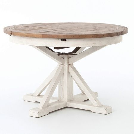 Cintra Expandable Round Dining Table 47 Is Rustic Bench Built And Fashioned