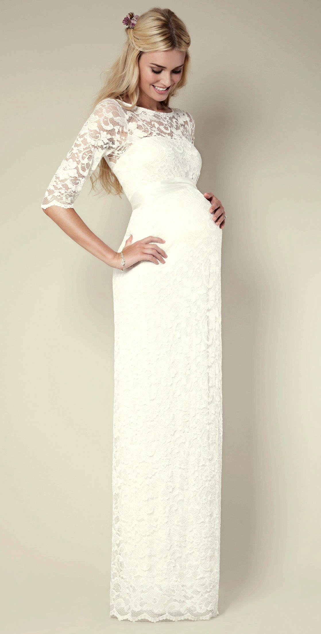 Precioso vestido para una novia con pancita!   clothesssssss <3 ...