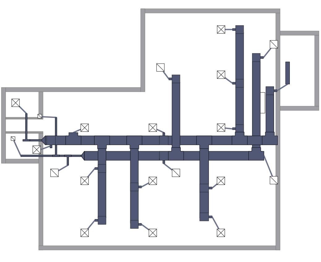 hvac floor plan [ 1039 x 849 Pixel ]