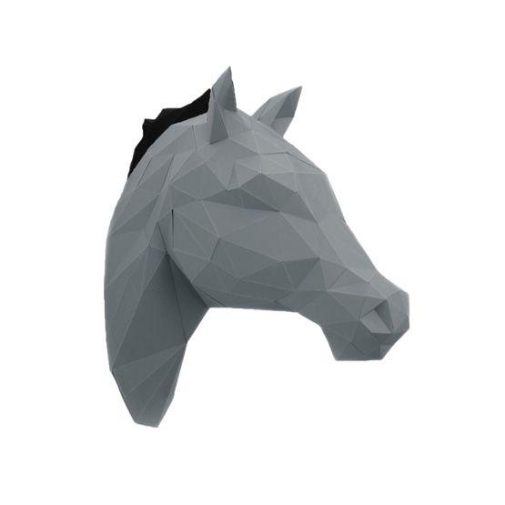 Pferdekopf 3D Origami pferd, 3d origami pferd und Papier