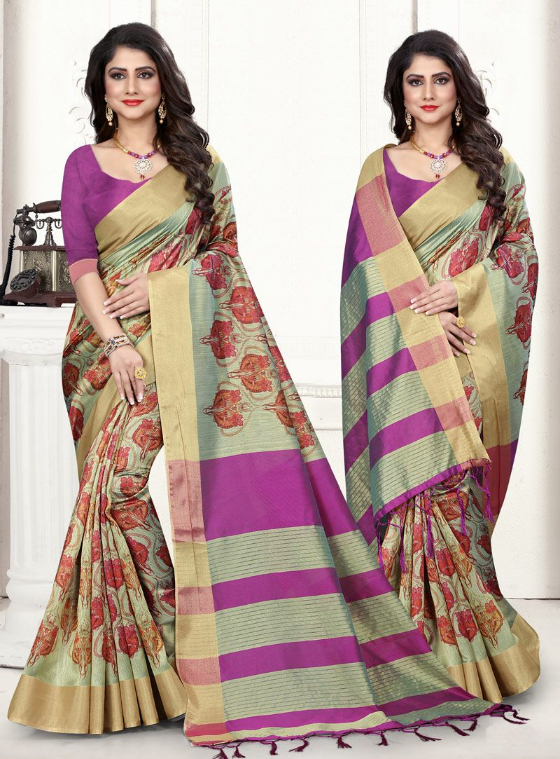 ba855f13908b4 Buy Green Jacquard Silk Festival Wear Saree 144960 with blouse online at  lowest price from vast collection of sarees at Indianclothstore.com.