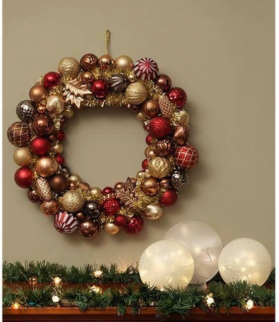 modelos de coronas navideas con esferas by artesydisenosblogspotpe - Coronas De Navidad