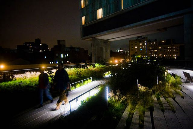 The High Line At Night P L A C E Highline