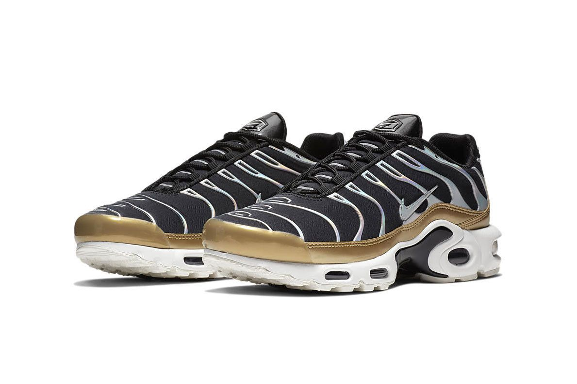 Nike's Air Max Plus Flexes Iridescent Silver & Gold Accents