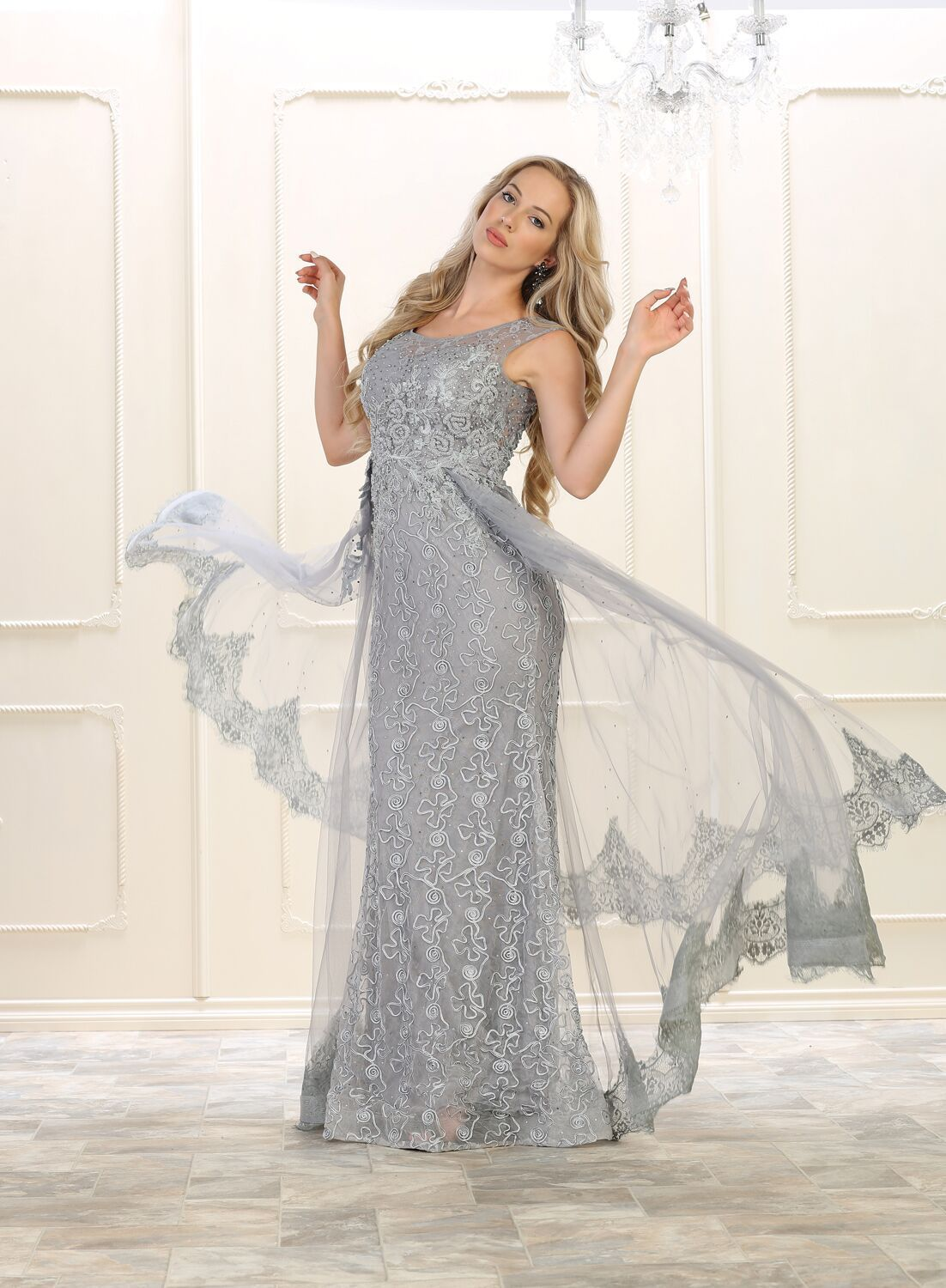 Long beaded plus size prom dress evening gown in products