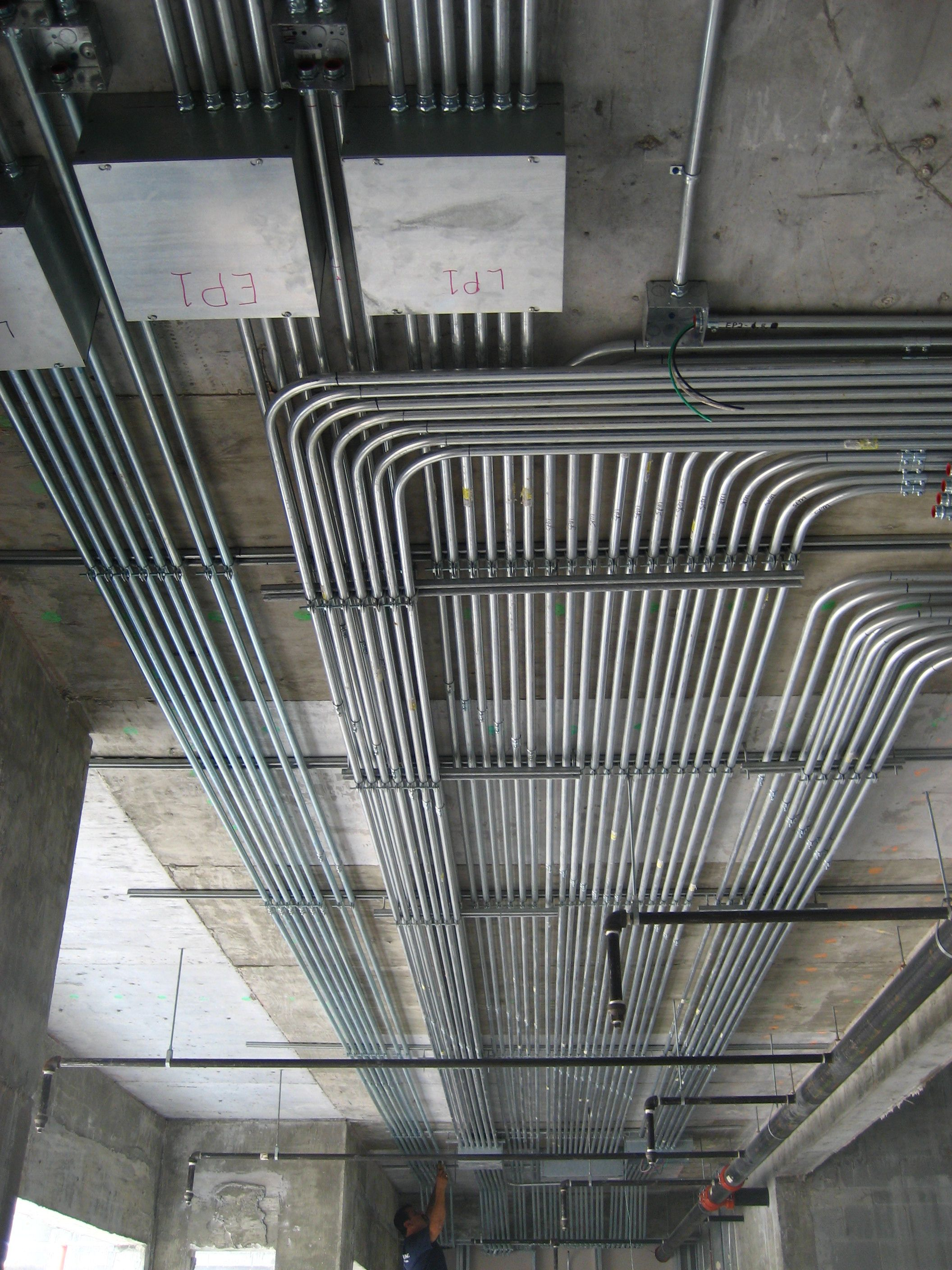conduit installation - Google Search | Electrical wiring ... on lighting wiring, emt wiring, junction box wiring, aluminum wiring, panel wiring, control wiring, tube wiring, ballasts wiring, circuit wiring, well wiring, transformers wiring, power wiring, receptacles wiring, hvac wiring, cable wiring, thermostats wiring, electrical wiring, copper wiring, home wiring, switch wiring,