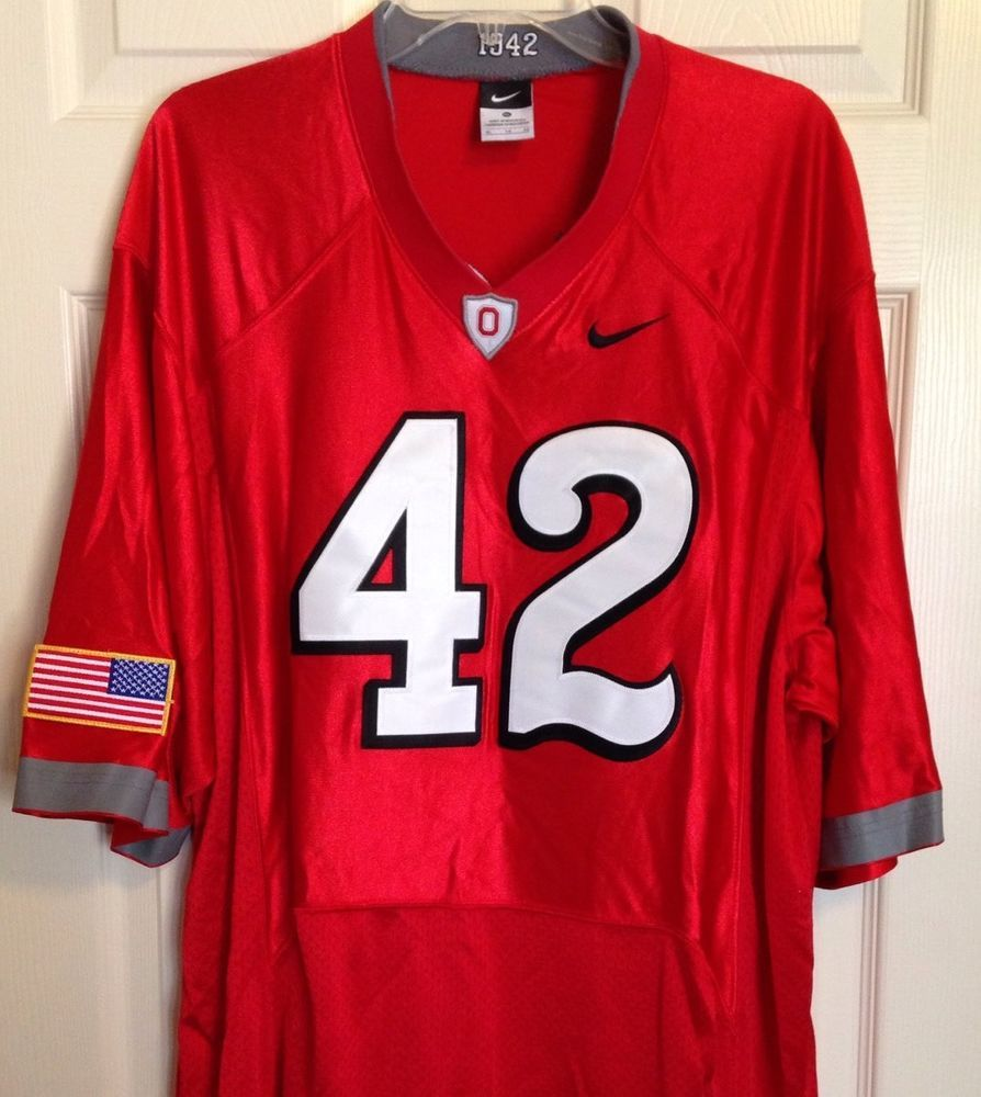 new styles 9bcfa 1d5eb Ohio State Nike #42 Throwback Combat Jersey XL 1942 National ...