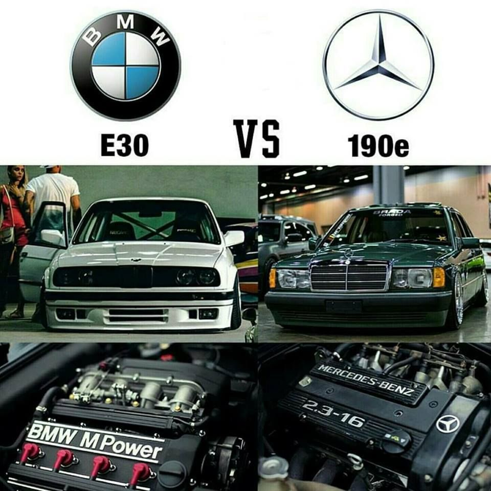 Bmw E30 Vs Benz 190e Dream Car S Mercedes Benz World