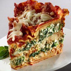 Slow Cooker Spinach Lasagna; Easy/healthy/great presentation!