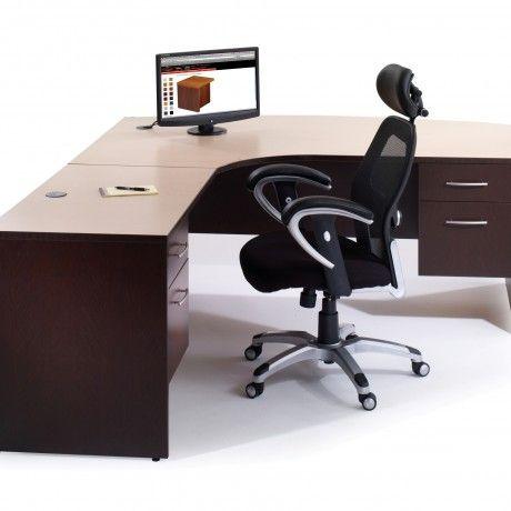 Black Wood Desk Esindesign Love The Big Screen Modern