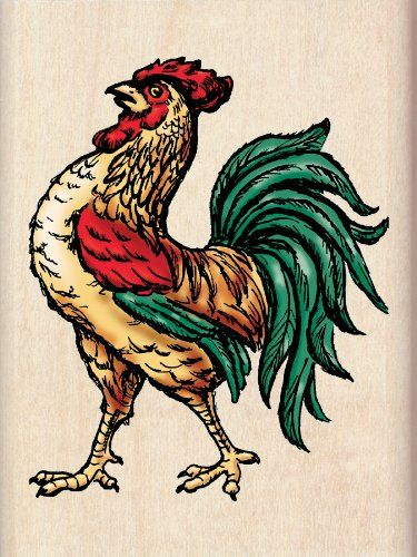 Inkadinkado Rooster Wood Stamp You Can Find More Details By Visiting The Image Link