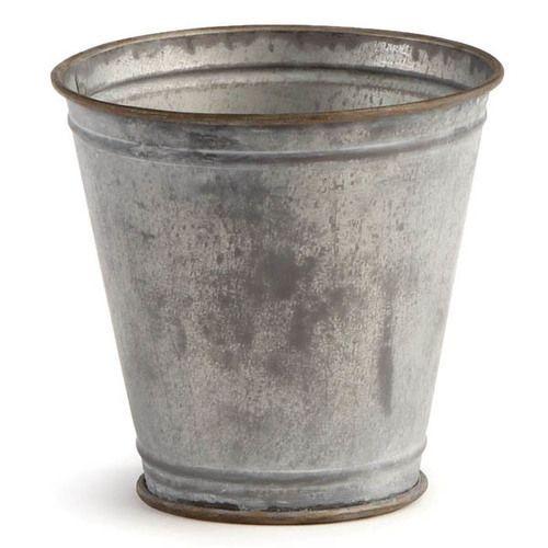 Click To Shop This Paris Antique Galvanized Flower Pots Set Of Six At Hudson And Vine A Classic Flower Pot Vintage Flower Pots Flower Pots Metal Flower Pots