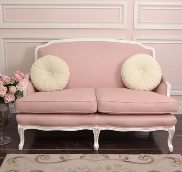 Adorable Retro Pastel Pink Sofa Design | projects | Pinterest | Pink ...
