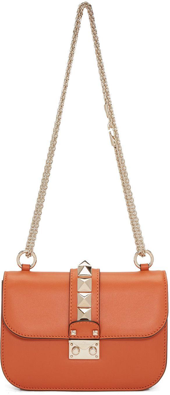 22b5ae7790 VALENTINO Orange Small Lock Bag. #valentino #bags #shoulder bags #leather # lining #