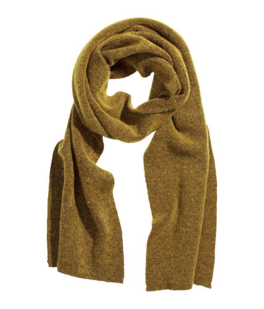 H&M Studio Collection AW 2015 Olive Green Knitted Mohair Blend Wool Scarf Schal in Kleidung & Accessoires, Damen-Accessoires, Schals & Tücher | eBay