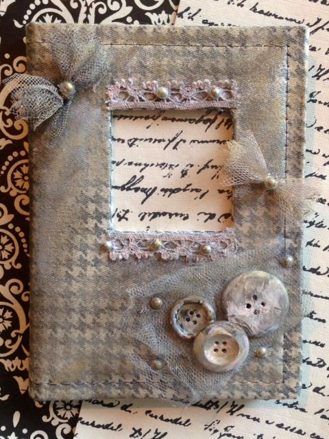 antiqued decorative photo album